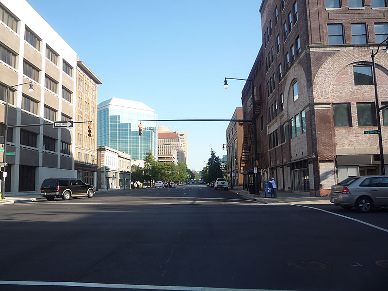 A view of the streets of downtown Birmingham from our ride.
