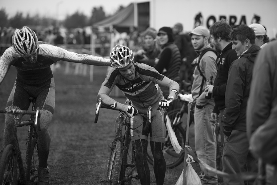 James, hanging on for life at the end of his race. This photo belongs to http://www.pdxcross.com/ - all rights and credits belong to them as well.